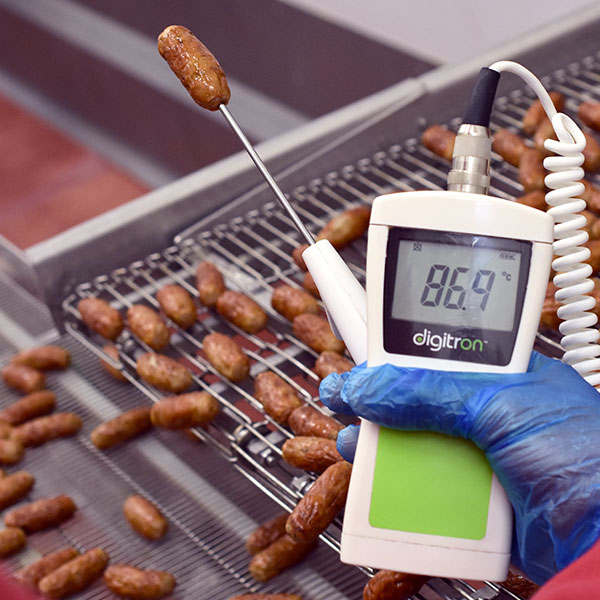 testing temperature of sausage